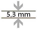 5,3mm Bodenstärke