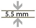 5,5 mm Bodenstärke